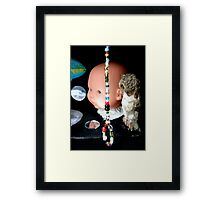 Black Box With Noose of Beads and Big Baby  Framed Print