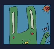 """Big Bad Bunny"" by Richard F. Yates Kids Tee"