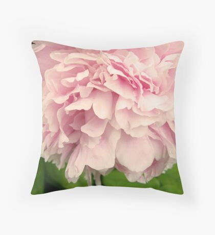 Peony Petals Throw Pillow