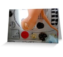 White Box With Beads and Torso Greeting Card
