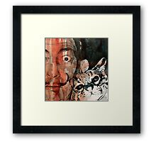Dali and his cat Framed Print