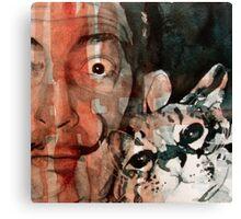 Dali and his cat Canvas Print