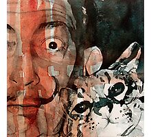 Dali and his cat Photographic Print
