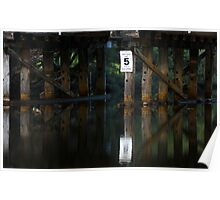 Reflected pylons Poster