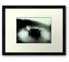 Heavy rain to Munich Framed Print