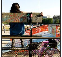 At the Skate Park, Geneva, Switzerland. by Madeleine Marx-Bentley