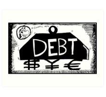 Debt Weight Art Print