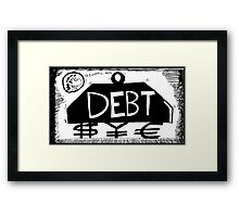 Debt Weight Framed Print