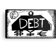 Debt Weight Metal Print