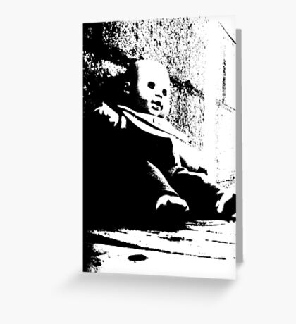 Scary Baby Greeting Card
