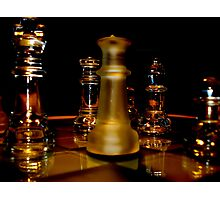 Whisky Chess Photographic Print