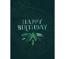 Happy Birthday - Emeralds Photographic Print