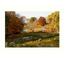 Fall Farm Art Print