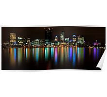 Perth City Lights Refelctions 2 Poster