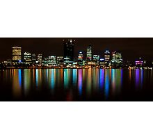 Perth City Lights Refelctions 2 Photographic Print