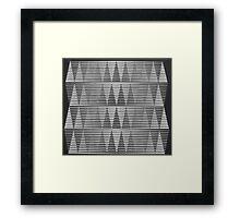 Black and White Triangles Framed Print