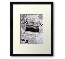 Barcode Abstract Framed Print