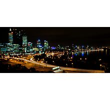 Perth city Lights War Memorial Lookout 2 Photographic Print