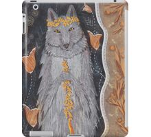 Wolf and flower crown iPad Case/Skin