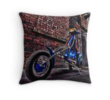 vespa chopper Throw Pillow