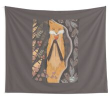 Fox and candy bird Wall Tapestry