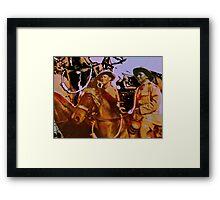 Desert Men Framed Print
