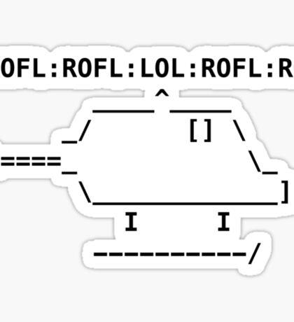 ROFLcopter Sticker
