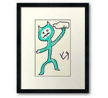 """Stick Figure Bill's Career Choices"" by Richard F. Yates Framed Print"