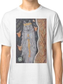Wolf and flower crown Classic T-Shirt