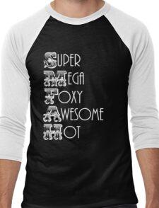 Super Mega Foxy Awesome Hot Men's Baseball ¾ T-Shirt
