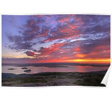 Summer Sunrise, Cadillac Mountain Poster