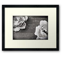 Sacredness In Tears Framed Print
