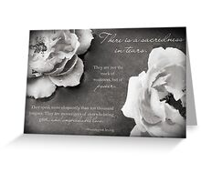 Sacredness In Tears Greeting Card