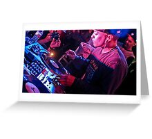 Turntablist Qbert in Houston TX Greeting Card