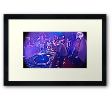 Turntablist Qbert in Houston TX Framed Print