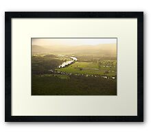 Golden Afternoon - Williams River near Clarence Town, NSW Framed Print