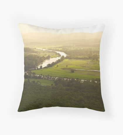 Golden Afternoon - Williams River near Clarence Town, NSW Throw Pillow