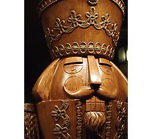Wooden Nutcracker for Christmas Photographic Print