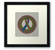 Mandala for Metastatic Breast Cancer Framed Print