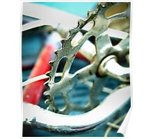 Junked Bicycle Sprocket Poster