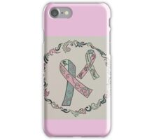 Metastatic Breast Cancer Ribbons iPhone Case/Skin