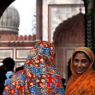 Womens outside Jama Majid Mosque by andreaminerdo