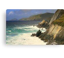 Where the mountains meet the sea Canvas Print
