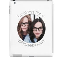 Lana and Bex - Looking for a Phone Booth (Black text) iPad Case/Skin