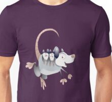 opossum mom with cubs Unisex T-Shirt