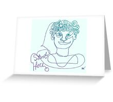 Start Here - One Line Man Greeting Card