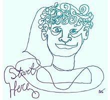 Start Here - One Line Man Photographic Print