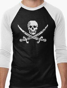 8bit piracy Men's Baseball ¾ T-Shirt