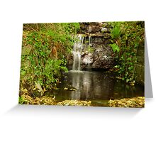 Tumbling water Greeting Card