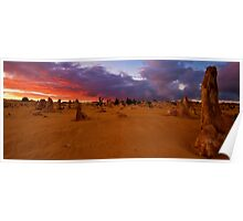 Nambung National Park Pinnacles Sunrise 6 Poster